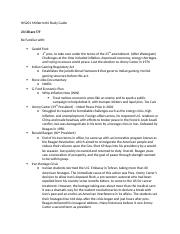 HIS201 Midterm #4 Study Guide