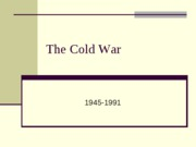 The Cold War--Revised