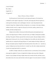 Oedipus the King Essay copy