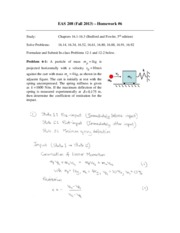 eas209 HW6 solutions