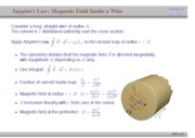 Magnetic field inside wire