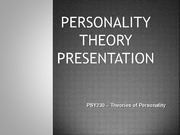 PSY230 Week 2 Assignment Personality Theory Presentation