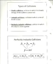 Physics- Inelastic collision notes
