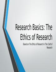 Research Basics The Ethics of Research.pptx