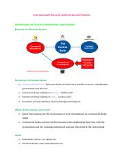 International Financial Institutions and Markets Notes.docx