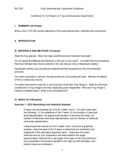 BIO 335 Student Guidelines for Full Report on Frog Cardiovascular Experiments 2011(1)