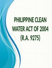 ESE 150 RA 9275 (Phil Clean Water Act & Its Implementing Rules & Regulations).Nov13