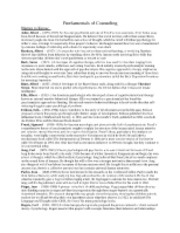 DSST Fundamentals of counseling study sheet