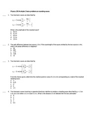 Physics 295 Chapter 18 Practice Questions and Solutions