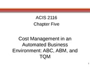 Chapter 5 Cost Management