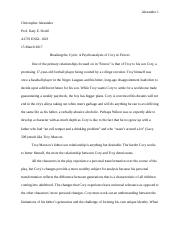 Breaking the Cycle-Drama Paper Final Draft