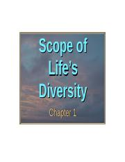 1(ii)-SCOPE OF LIFE'S DIVERSITY part 1.ppt