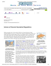 SIRS Discoverer ® _ Document _ Union of Soviet Socialist Republics