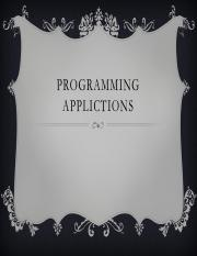 Programming Applications 02