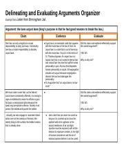 Copy of Copy of 2.2- Delineating and Evaluating Arguments Organizer.docx