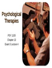 Psych Exam 5-Psych Therapies.ppt