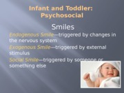 Infant and Toddler Psychosocial posted
