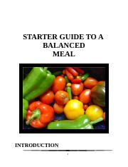 Instructional Manual_Preparing a balanced meal