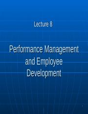 BUS20305 Lecture 8 Employee development