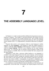 Ch 7 Assembly Language Level