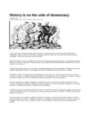 History on the side of democracy_Stephens_Jan 20 2011
