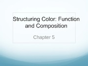 Lecture 5 - Color Function & Compostion