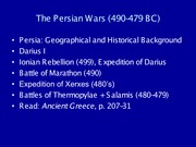 The Persian Wars (490-479 BC)