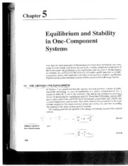 Sandler Ch 5 - Equilibrium and stability in ome-component systems (topic VI & VII)