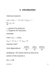Chemical Kinetics Lecture 1