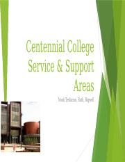 Centennial College Service & Support Areas