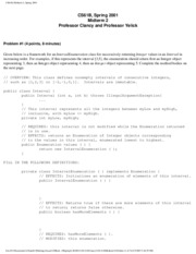 Computer Science 61B - Spring 2001 - Clancy - Midterm 2