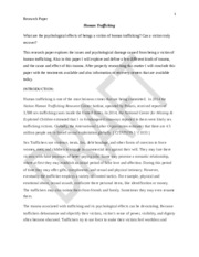 Human trafficking research paper