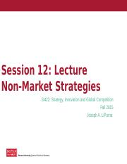 Lecture 12 - Non Market Strategies (Sweet Deal Case) .pptx