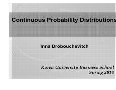 S14STAT Lec 18-19 - Continuous Probability Distributions