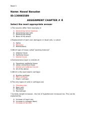 ASSIGNMENT CHAPTER 4