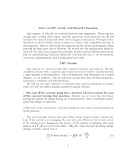 LRC Circuits and Maxwell Equation Review