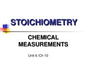 Unit 6 Stoichiometry compounds