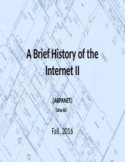 3. A Brief History of the Internet II