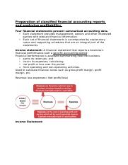 Preparation of classified financial accounting reports and analysing profitability.docx