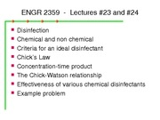 ENGR 2359 Lecture No. 23 and 24 R