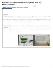 Sine Wave Generator using PWM with PIC Microcontroller.pdf