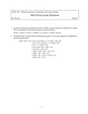 Midterm Exam Solution Spring 2002 on Introduction to Digital Logic and Computer Design