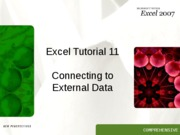 Excel 11 tutorial