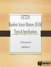 CIS101_Unit2_Lecture2_RAM_Specifications.pdf