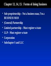 Business Entities PPT