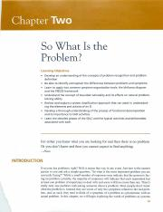 Systems analysis and design - defining problems