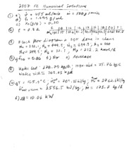 Final Exam 2007 Solutions