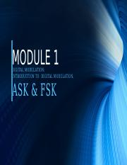MODULE 1-DIGITAL MODULATION (1)