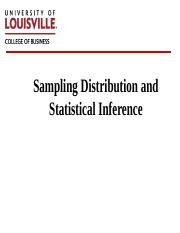 Lecture Note 2 Sampling distribution and Statistical Inference_1