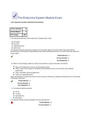 Test #10The Endocrine System Module Exam.docx